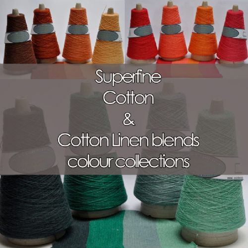 Superfine cotton linen mix laceweight Colour Collections